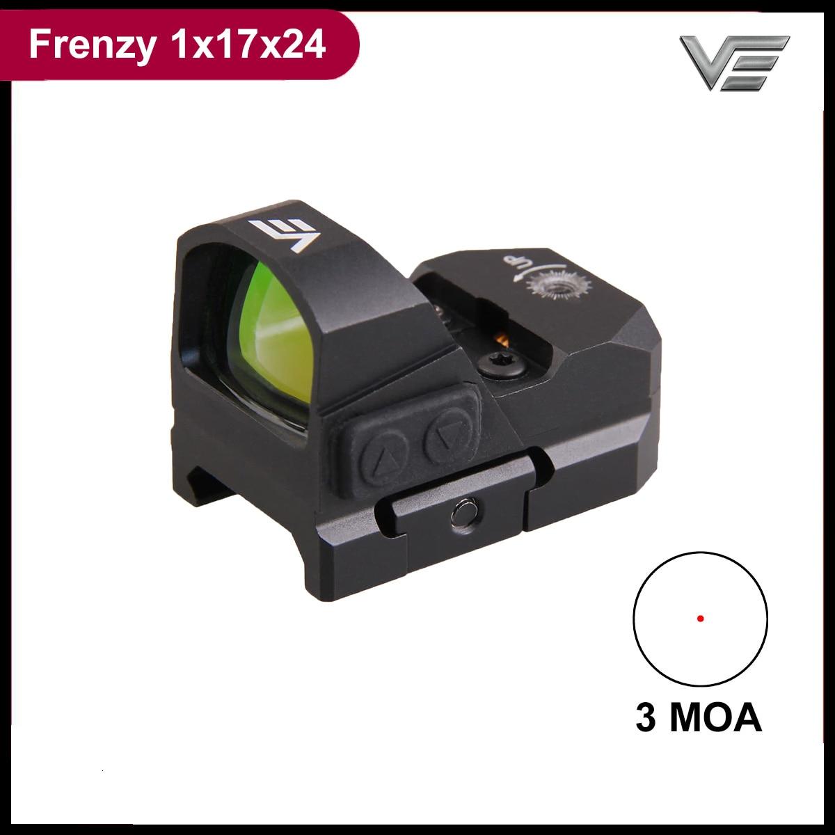 sistema otico do vetor frenzy 1x17x24 ar15 m4 ak47 pistola red dot scope 9mm mini vista
