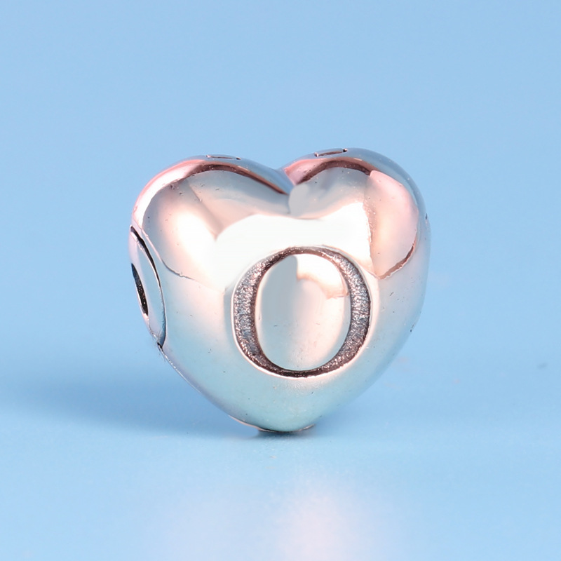 Free Shipping 925 Sterling Silver Rose Gold Letter Logo Clips Charm Fit Original Pandora Bracelet Women DIY Jewelry Making Beads