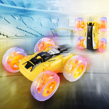 Stunt RC Car 2.4G Drift Deformation Buggy Rock Crawler Roll 360° Tumbling Spins Flips Remote Control Stunt Cars Toys for Kids недорого