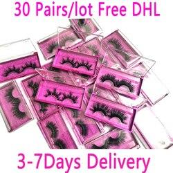 Оптовая продажа 30 пар/лот 5D норковые ресницы 25 мм, ручная работа, эффектные ресницы, 3D норковые ресницы, для женщин, для женщин, для детей, для ...