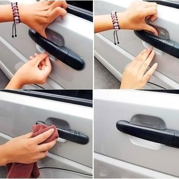 4pcs/set Car Door Handle Protective Film Universal Handle Car Film Prevention Protector Guard Door Protection Sticker Scrat Z2Q9 image