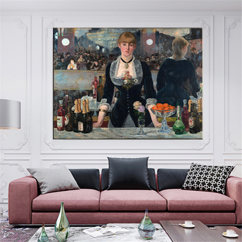 Edouard Manet A Bar At The Folies Oil Painting Canvas 4
