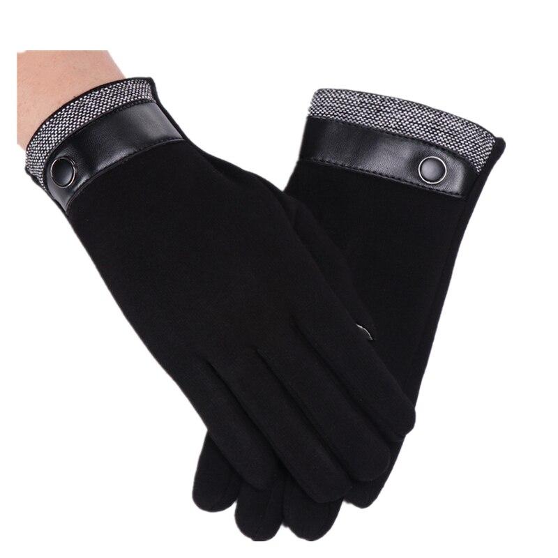 Brand New Touch Screen Men Women Gloves Autumn And Winter Warm Leather Mittens Glove Unisex Velvet Thick Cotton Riding Gloves