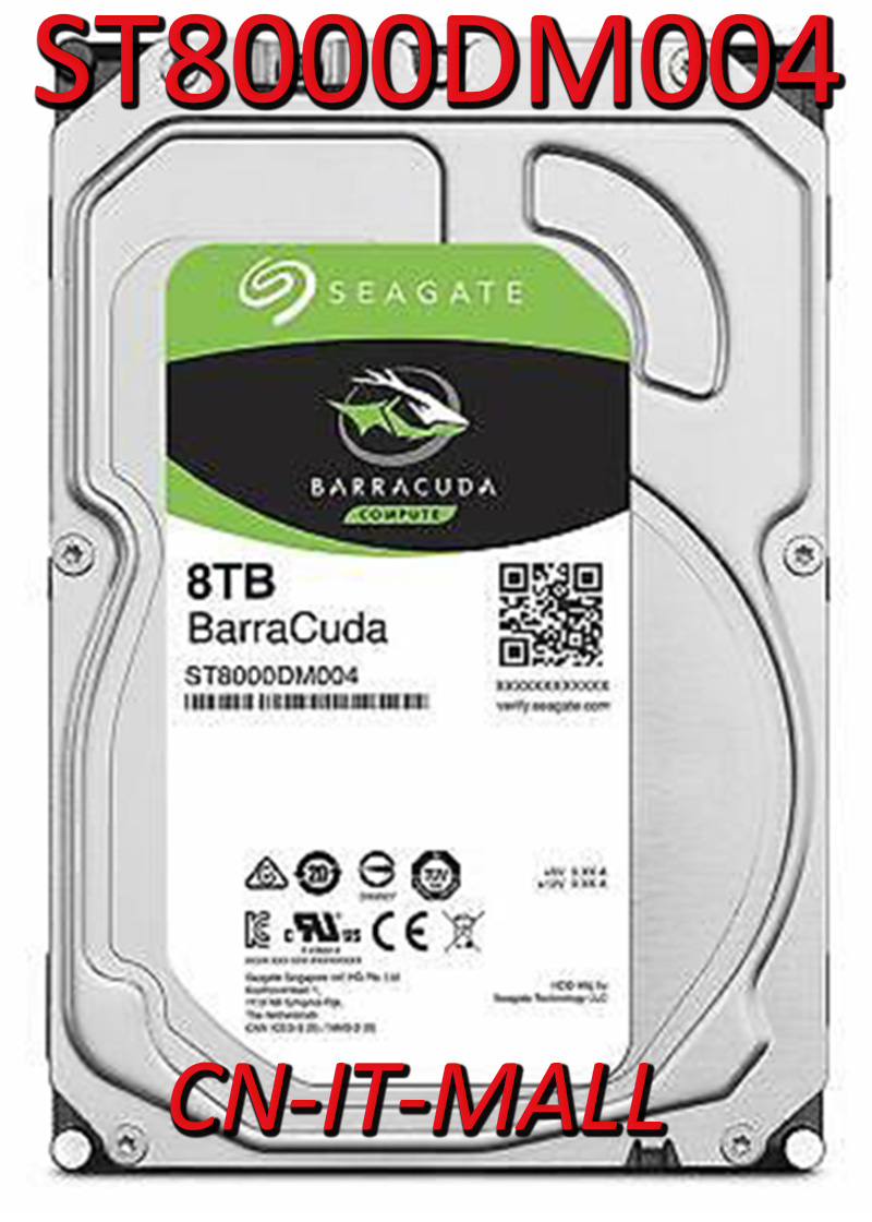 Seagate BarraCuda ST8000DM004 8TB 5400 RPM 256MB Cache SATA 6.0Gb/s 3.5