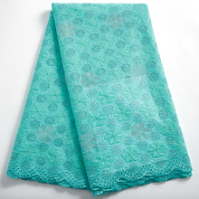 African Lace Fabric With Stones High Quality Dubai Holes Cotton Stones Swiss Voile Lace In Switzerland For Wedding Sewing 2389A