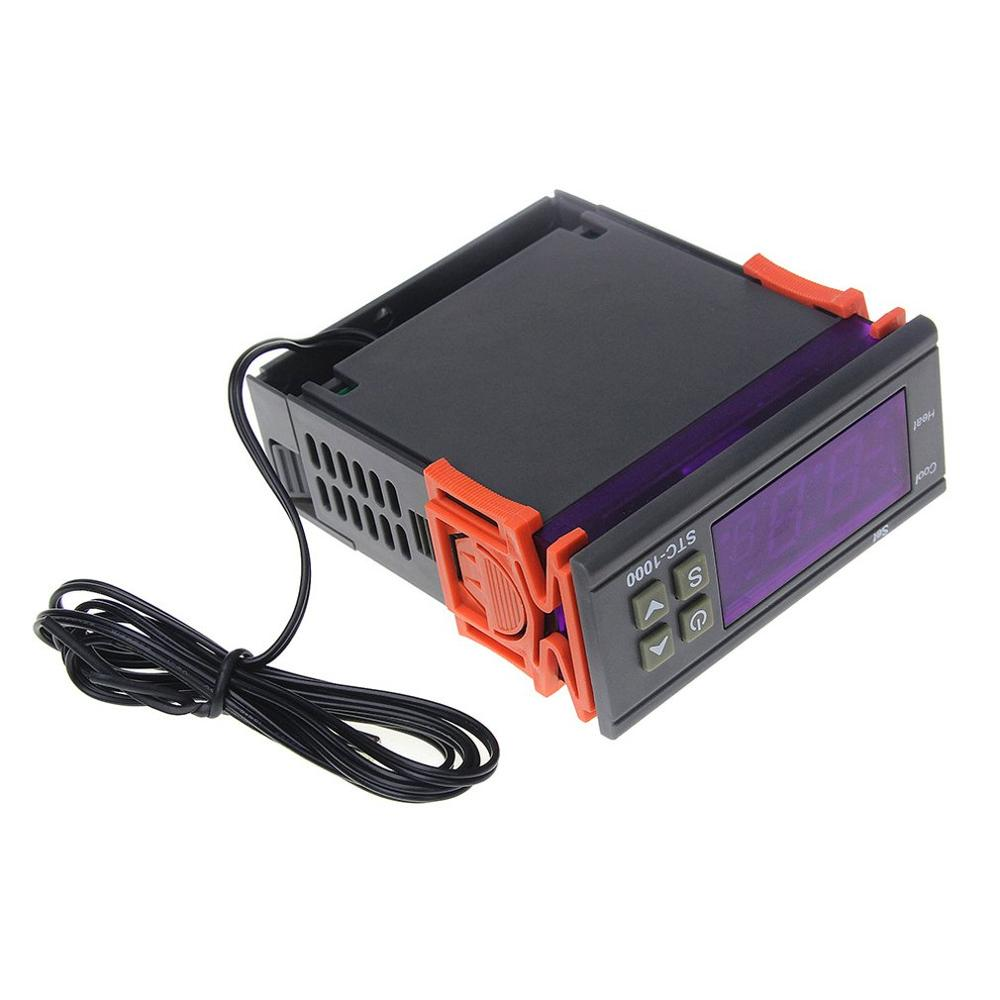 Stc-1000 Dual Relay Output Led Digital Temperature Controller Thermostat Cooling Heating Thermostat Automatic NTC Sensor