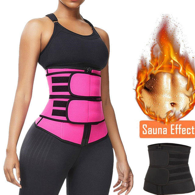 Sweat Waist Trainer Belt Women Weight Lose Body Shaper Sauna Slimming Strap Tummy Control Fat Burn Girdle Corset 1