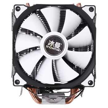 Enfriador de CPU de 4 pines y 6 heatpipe, ventiladores dobles de refrigeración de 12cm LGA775 1151 115x1366, compatible con Intel AMD