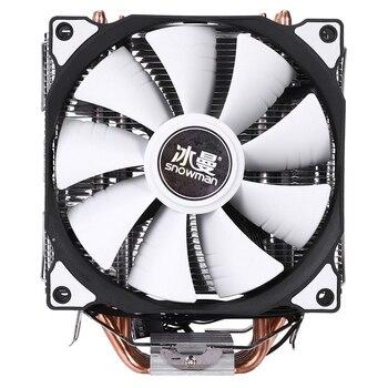 SCHNEEMANN 4PIN CPU kühler 6 heatpipe Doppel fans kühlung 12cm fan LGA775 1151 115x1366 unterstützung Intel AMD