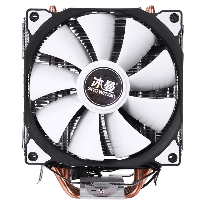 SNOWMAN CPU Cooler 12cm Fan LGA775 Double-Fans 1151 Intel Amd 6-Heatpipe 4PIN 115x1366-Support