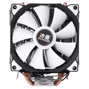 SNOWMAN 4PIN CPU cooler 6 heatpipe Double fans cooling 12cm fan LGA775 1151 115x 1366 support Intel AMD(China)