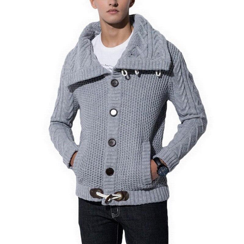 OEAK Autumn Winter Fashion Casual Cardigan Sweater Coat Men Loose Fit Warm Knitted Sweater Coat Male Plus Size Outwear