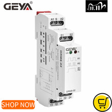 GEYA GRM8 фиксирующее реле, реле памяти SPDT 16 А, шаговое реле AC230V или AC/импульсное реле 12V