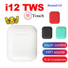 TWS Wireless Earphones I12 Touch Control Bluetooth 5.0 3D Super Bass Pods Earphone For iPhone Xiaomi Smart Phone - DISCOUNT ITEM  38% OFF All Category