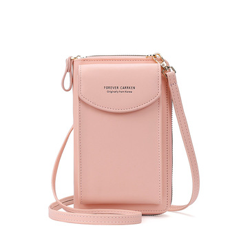 2020 Fashion Cell Phone Case Designer Small Shoulder Bag for Women PU Leather Ladies Crossbody Bag Female Mini Messenger Bags - Pink