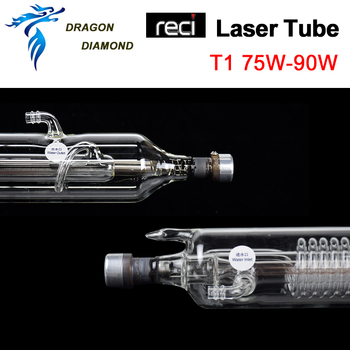 T-Series RECI T1 75W-90W Co2 Glass Laser Tube  Length 1110mm Dia.65mm For Engraving Machine & Cutting Machine 2016 hxx 1um optical glass scale with 650mm travel length for wire cutting machine