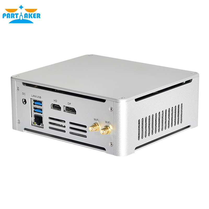 Participante mini pc intel core i5 7300hq i7 7820hq 7920hq ddr4 windows 10 linux 4k jogos uhd htpc hdmi dp minipc desktop computador