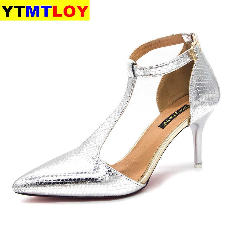 New Pointed Toe Fetish Luxury Designer Woman Extreme High Heels Ladies Sexy Gold Silver Wedding Slingbacks Pumps Glitter Heels