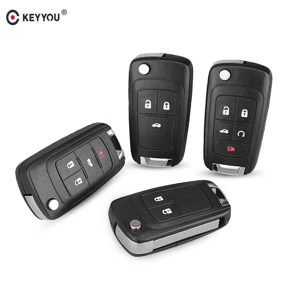 KEYYOU Voor OPEL/VAUXHALL Voor Astra J Corsa E Insignia Zafira C 2009 2010 2011 2012 2013 2016 Flip vouwen Remote Key Case
