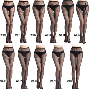 Image 1 - Hollow Out Sexy Pantyhose Mesh Stockings Jeans Stretch Bottoming Stocking Fishnet Stockings Tights High Quality Female Pantyhose