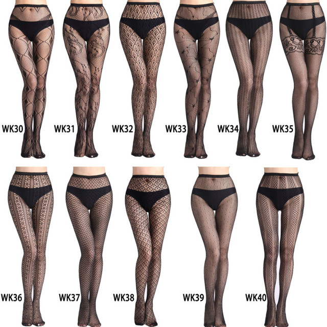 Hollow Out Sexy Pantyhose Mesh Stockings Jeans Stretch Bottoming Stocking Fishnet Stockings Tights High Quality Female Pantyhose