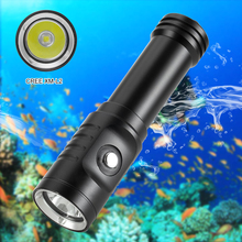 Underwater Scuba Diving Flashlight Torch Cree XM L2  LED Flashlight Underwater 80M Waterproof LED Dive Light  with 18650 battery