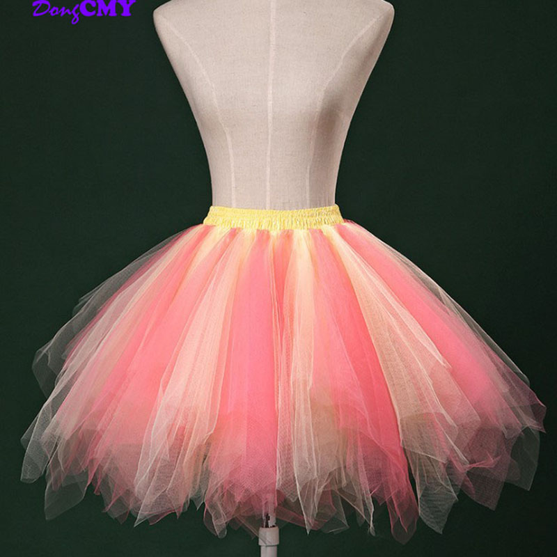 2020 Short Organza Halloween Women DongCMY Women MIni Bridal Petticoat For Wedding Evening Underskirt Rockabilly Tutu
