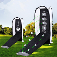 Portable Foldable Golf Chipping Pitching Cages Indoor Outdoor Golf Hitting Swing Practice Net Golf Easy Training Aids F1050