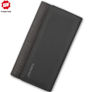 Image 5 - Tigernu Casual Man Long Wallet Male  Coin Multi Pockets Money DollarCard Holder Purses for Men Fashion Style Wallet Card Holder