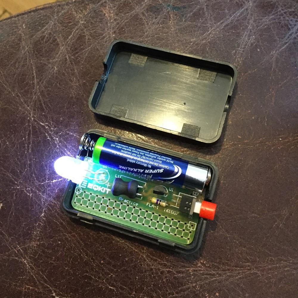 FLA-1 1,5 V простой фонарик DIY Kit интегральная схема доски пайки практика люкс электронный Компоненты сварки обучение