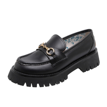 Female Loafers Flat Platform 2020Fashion Women Shoes Black Flats Round platform shoes Woman Casual Ladies Shoes лоферы женские лоферы zenden woman zenden woman ze009awaefo7