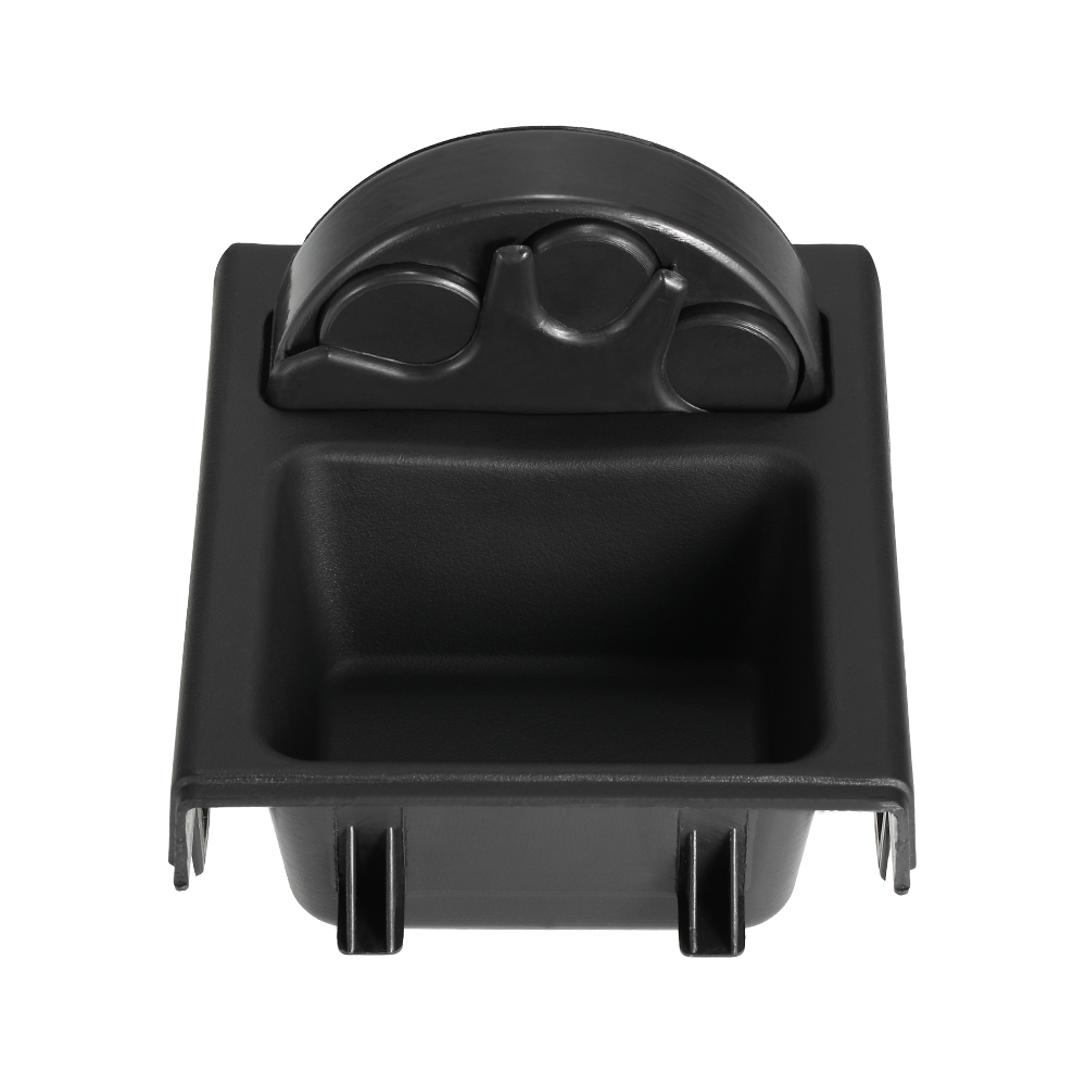 Hot Double hole car front center console cup rack / change box + Coin Holder Tray for BMW 3Series E46 1998-2004 Black