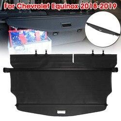 Audew 1Pc czarny samochód bagażnik tylny odcień tarcza bezpieczeństwa Auto samochód tylna pokrywa bagażnika ze stopu dla Chevrolet Equinox 2018  2019      -