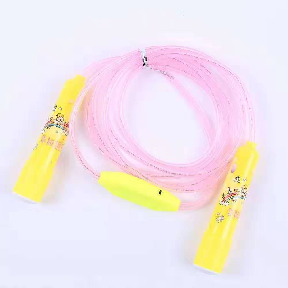 Liang Jian Children Entertainment Only Jump Rope Cartoon Plastic Handle Cool LED Electronic Reflective Rope