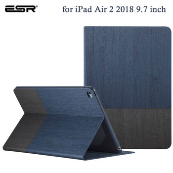 ESR Case for iPad Air 2 9.7 PU Leather Smart Cover Stand Auto Sleep Wake Protective Cover for iPad Air2 2018 9.7 inch Funda цена 2017