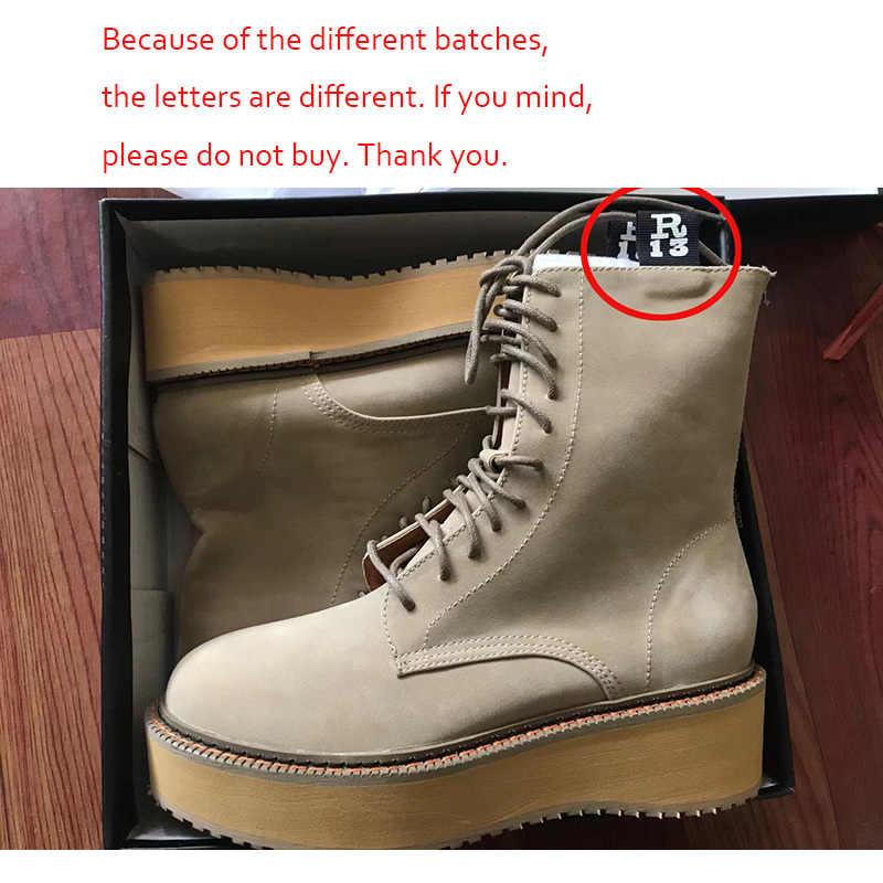Botas de moto Ins R zapatos de invierno para mujer 2019 botas de tobillo para mujer con cordones botines de plataforma para mujer zapatos de cuña gruesos para mujer