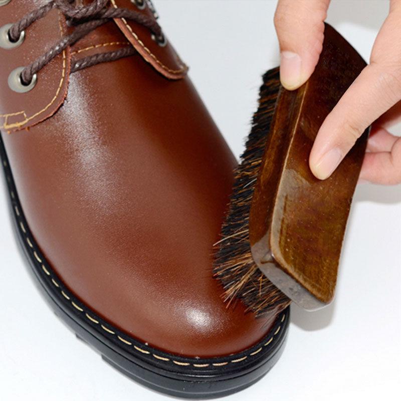 Практичная прочная щетка из конского волоса для обуви блестящая Полировочная щетка для очистки пыли