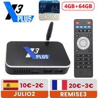 TV Box X3 PLUS Amlogic S905X3, Android 9,0, 2GB, 4GB, DDR4, 16GB, 32GB, 64GB, 2,4G, 5G, WiFi, 1000M, LAN, Bluetooth, 4K, HD, X3 PRO