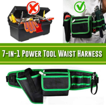 7 in 1 Electric Tool Waist Harness Waist Pouch Bag for Hardware Tools WHShopping
