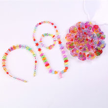 Children Bead Toy GIRL'S Wear Beads Bracelets Necklace Girls DIY Accessories Material Box for Making Bracelets(China)