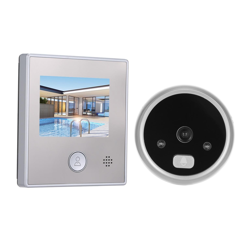 """1.3MP Video Intercom System Peephole Door Camera 2.8"""" Color Screen Doorbell Doorbell Residential Security Video Door Phone"""