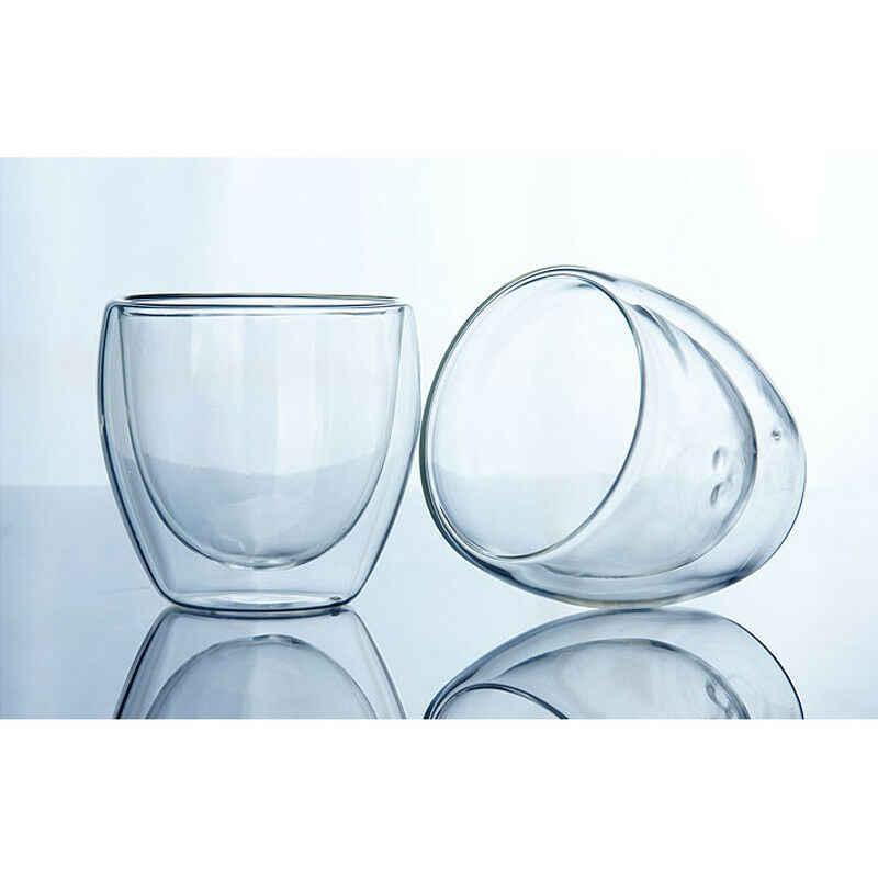 Double Wall Cup Clear Kaca Teh Mug Kopi Espresso Isolasi Termal Fashion Melindungi Anggur Bir Nyaman 2020