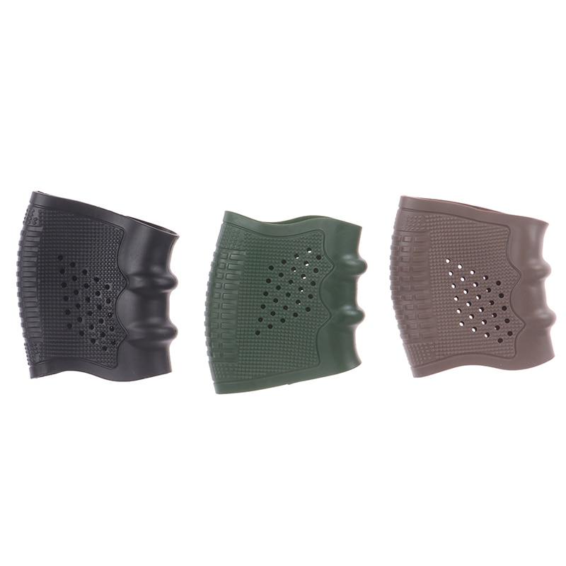 Handgun Rubber Military Accessory Sleeve Anti Slip Airsoft Shooting Hunting Black Green Khaki Gun Grip Glove Protect Cover