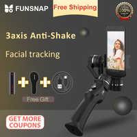 Funsnap Capture 3 axes stabilisateur de cardan de poche Smartphone pour Gopro Sjcam Xiaomi 4k stabilisateur de cardans de caméra d'action