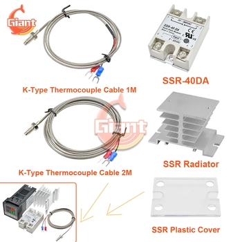 SSR-40DA Relay 1M 2M K Type Thermocouple Probe Cable SSR Radiator Relay Cover Replacement Part for REX-C100 Digital Thermostat image