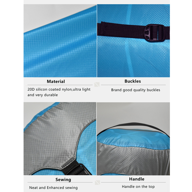 Outdoor Sleeping Bag Pack Compression Stuff Sack High Quality Storage Carry Bag Sleeping Bag Accessories 6