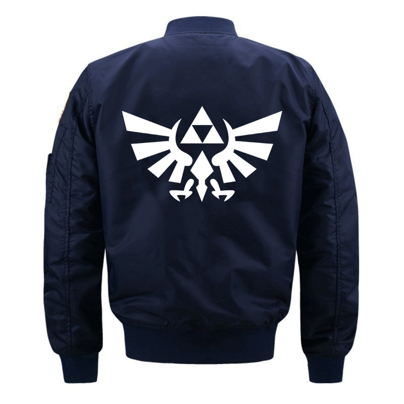 The Legend of Zelda Anime Mens Casual <font><b>Jacket</b></font> Army <font><b>Military</b></font> Flight Pilot Bomber <font><b>Jackets</b></font> Men <font><b>Winter</b></font> Baseball uniform Warm Outerwea image