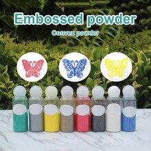 Embossed Powder Pigment Embossing Stamping Scrapbooking Craft Craft Metallic Paint Emboss Powder Shiny Colour Embossing Pigment