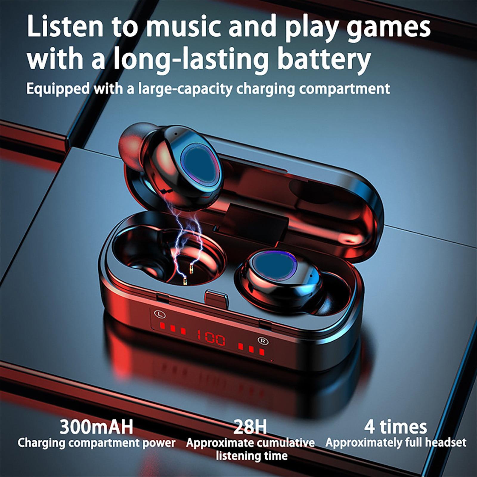 2021 модные наушники Bluetooth V5.0 9d стерео Беспроводная гарнитура наушники-вкладыши Ipx7 Auricolari