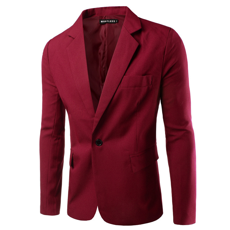 Autumn And Winter New Style Single Row Of A Buckle Men Leisure Suit-Style Slim Fit Large Size Suit Jacket Fashion
